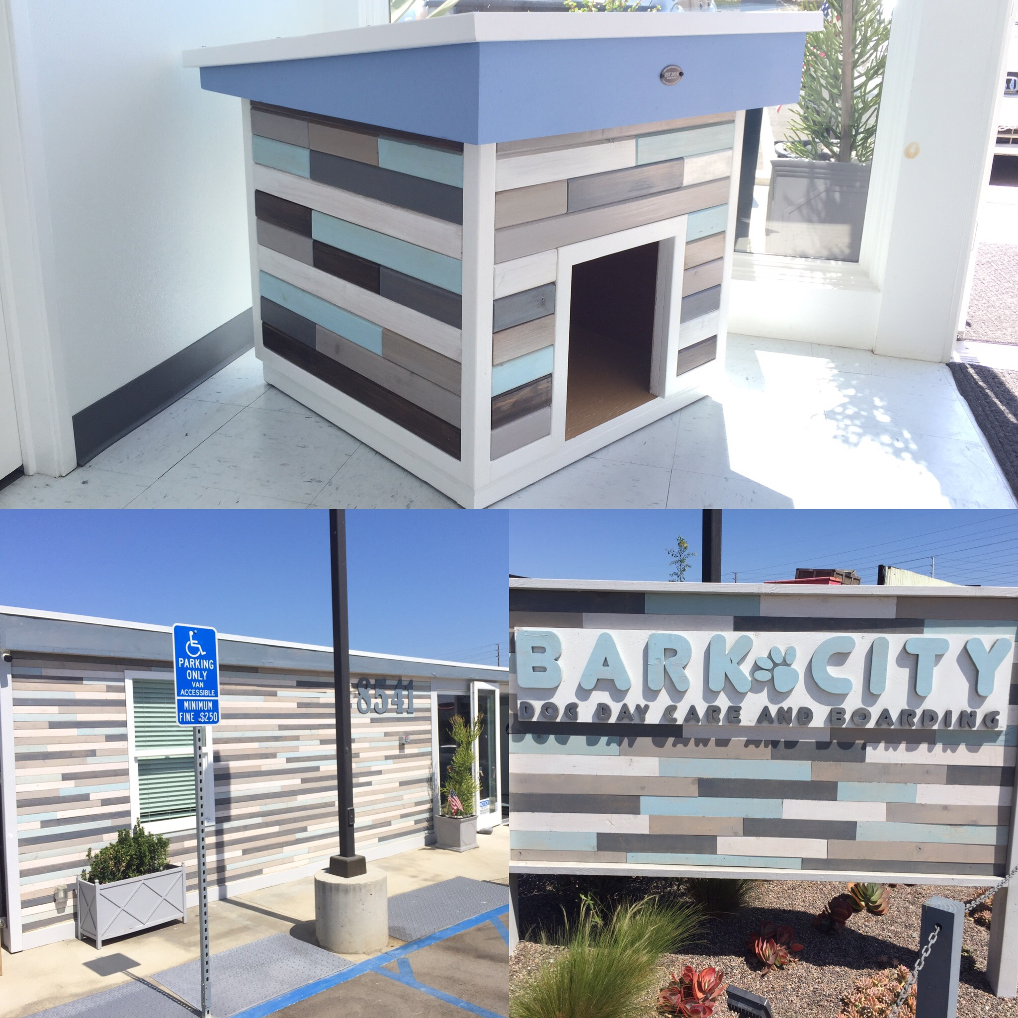 A Special Thanks To Our Friends At Bark City In Huntington Beach For Giving Us The Opportunity Build Them Dog House Match Their Building